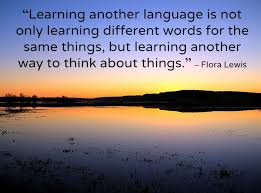 Learning another language